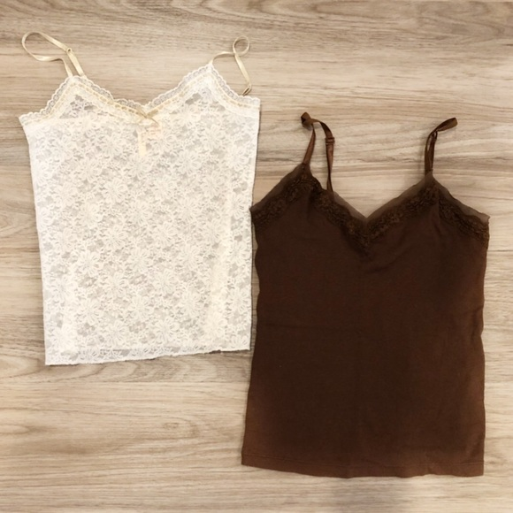 5b355d8d71e Abercrombie & Fitch Tops - 🎉HP🎉Bundle of Abercrombie Camis Lace White &  Brw